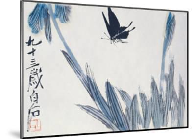 Dancing Butterfly-Baishi Qi-Mounted Giclee Print