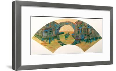Water Village in Jiang Nan, China-Danni Ye-Framed Giclee Print