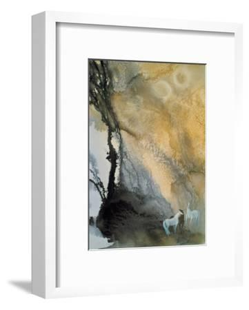 Horses at Leisure-Yunlan He-Framed Giclee Print