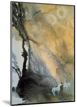 Horses at Leisure-Yunlan He-Mounted Giclee Print