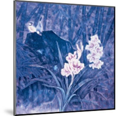 Birds and Flowers at Night-Qishu Wu-Mounted Giclee Print