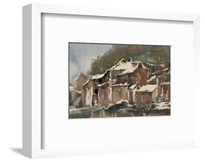 Spring Snow-Wanqi Zhang-Framed Premium Giclee Print