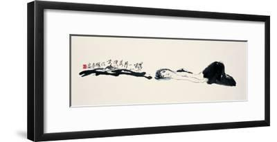 Woman on the Ground-Zui Chen-Framed Giclee Print