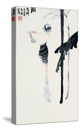 Encountering the Rain-Zui Chen-Stretched Canvas Print
