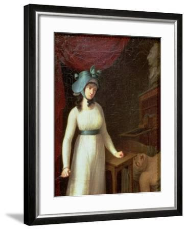 Charlotte Corday (1768-93) and the Assassination of Jean Paul Marat (1743-93), 13th July 1793--Framed Giclee Print