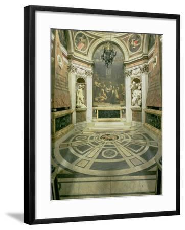 Interior View of the Octagonal Chigi Chapel, Begun by Raphael in 1513 Completed 1652-Giovanni Lorenzo Bernini-Framed Giclee Print