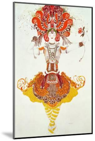 """Ballet Costume for """"The Firebird,"""" by Stravinsky-Leon Bakst-Mounted Giclee Print"""
