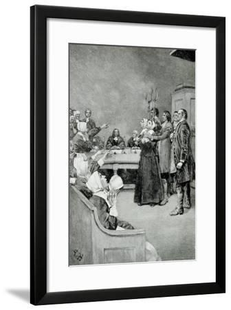 """The Trial of a Witch, from """"Giles Corey, Yeoman"""" by Mary E. Wilkins, Pub. in Harper's Magazine-Howard Pyle-Framed Giclee Print"""