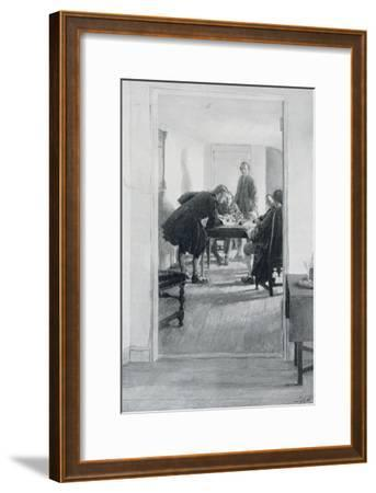 """In the Old Raleigh Tavern, Illustration from """"At Home in Virginia"""" by Woodrow Wilson-Howard Pyle-Framed Giclee Print"""