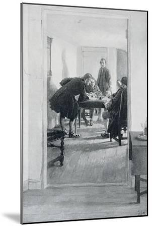 """In the Old Raleigh Tavern, Illustration from """"At Home in Virginia"""" by Woodrow Wilson-Howard Pyle-Mounted Giclee Print"""