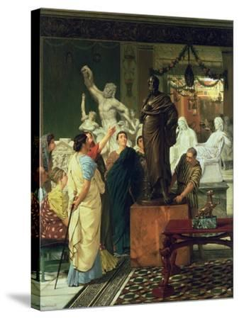 Dealer in Statues-Sir Lawrence Alma-Tadema-Stretched Canvas Print