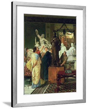Dealer in Statues-Sir Lawrence Alma-Tadema-Framed Giclee Print