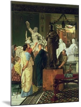 Dealer in Statues-Sir Lawrence Alma-Tadema-Mounted Giclee Print