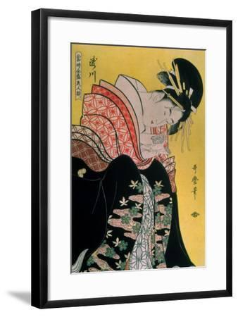 Takigawa from the Tea-House, Ogi-Kitagawa Utamaro-Framed Giclee Print