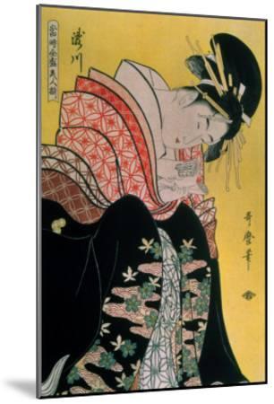 Takigawa from the Tea-House, Ogi-Kitagawa Utamaro-Mounted Giclee Print