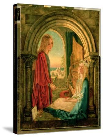 Annunciation, 1859-Charlotte E. Babb-Stretched Canvas Print