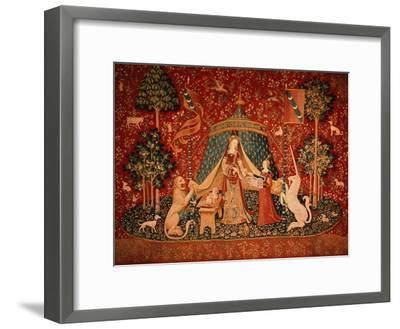 "The Lady and the Unicorn: ""To My Only Desire""--Framed Giclee Print"