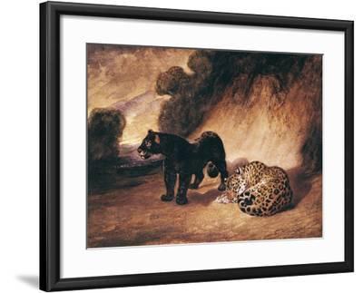 Two Jaguars from Peru-Antoine-Louis Barye-Framed Giclee Print