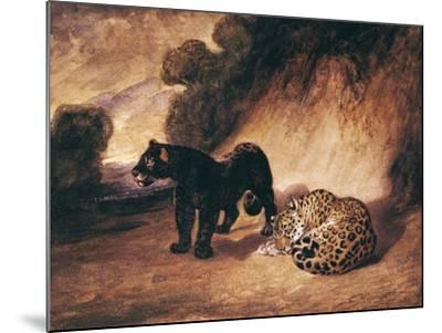 Two Jaguars from Peru-Antoine-Louis Barye-Mounted Giclee Print