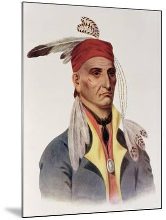"""Shin-Ga-Ba W""""Ossin or """"Image Stone,"""" a Chippeway Chief-James Otto Lewis-Mounted Giclee Print"""