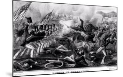 Battle of Churubusco, Fought Near the City of Mexico, 20th August 1847--Mounted Giclee Print