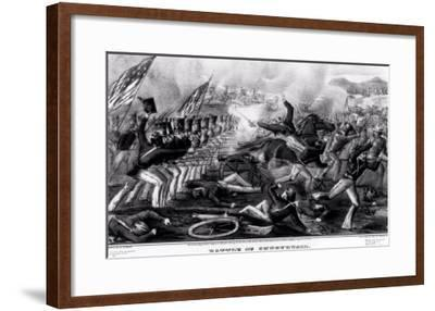Battle of Churubusco, Fought Near the City of Mexico, 20th August 1847--Framed Giclee Print