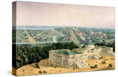 View of Washington, Pub. by E. Sachse & Co., 1852--Stretched Canvas Print