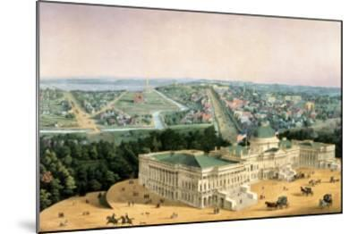 View of Washington, Pub. by E. Sachse & Co., 1852--Mounted Giclee Print