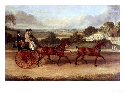 Coaching Scene-James Pollard-Framed Giclee Print