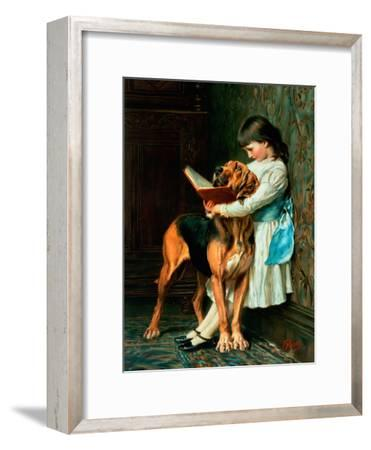 Naughty Boy or Compulsory Education--Framed Giclee Print