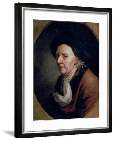 Portrait of the Mathematician Leonard Euler (1707-83)-Joseph Friedrich August Darbes-Framed Giclee Print