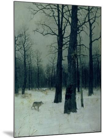 Wood in Winter, 1885-Isaak Ilyich Levitan-Mounted Giclee Print