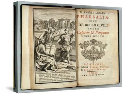 Frontispiece Pharsalia or Civil War Between Caesar and Pompey by Marcus Annaeus Lucan (Ad 39-65)--Stretched Canvas Print