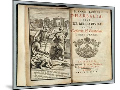 Frontispiece Pharsalia or Civil War Between Caesar and Pompey by Marcus Annaeus Lucan (Ad 39-65)--Mounted Giclee Print