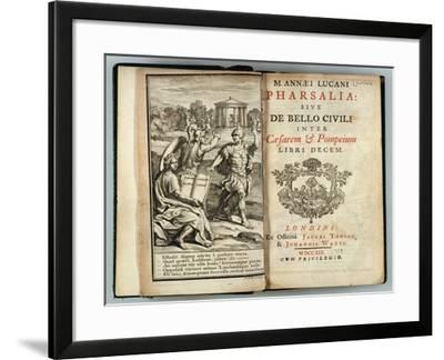 Frontispiece Pharsalia or Civil War Between Caesar and Pompey by Marcus Annaeus Lucan (Ad 39-65)--Framed Giclee Print