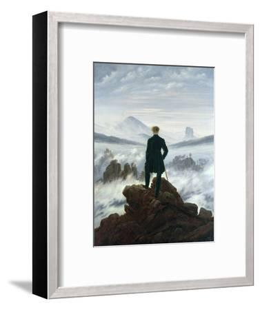 The Wanderer Above the Sea of Fog, 1818-Caspar David Friedrich-Framed Premium Giclee Print