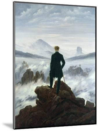 The Wanderer Above the Sea of Fog, 1818-Caspar David Friedrich-Mounted Premium Giclee Print