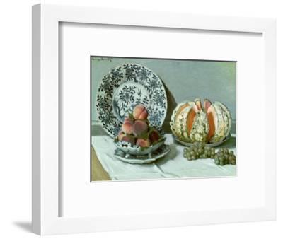 Still Life, circa 1876-Claude Monet-Framed Premium Giclee Print