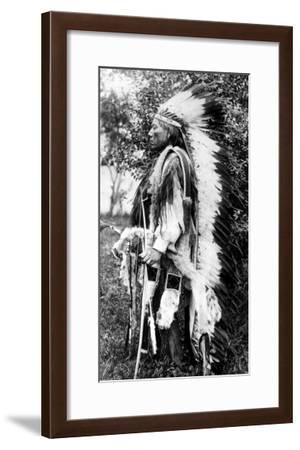 White Wolf, a Comanche Chief, circa 1891-98--Framed Giclee Print
