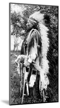 White Wolf, a Comanche Chief, circa 1891-98--Mounted Giclee Print