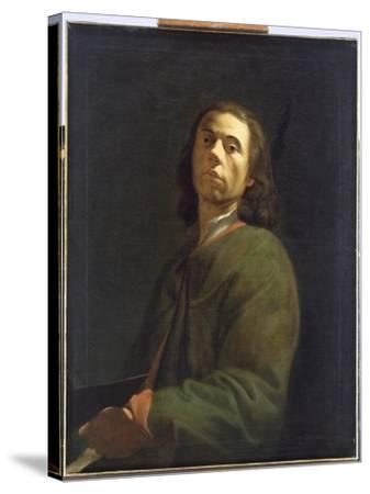 Self Portrait-Dietrich Ernst Andreae-Stretched Canvas Print