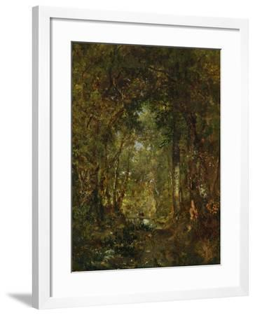In the Wood at Fontainebleau-Th?odore Rousseau-Framed Giclee Print