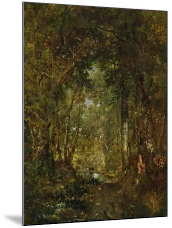 In the Wood at Fontainebleau-Th?odore Rousseau-Mounted Giclee Print