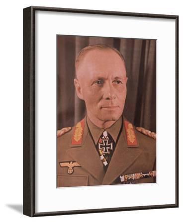"""Marshal Erwin Rommel (1894-1944) from """"Signal"""" Magazine, No. 17, First Edition of September 1942--Framed Giclee Print"""