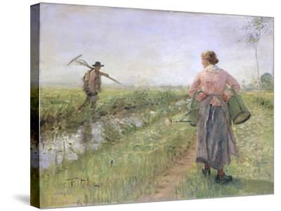 In the Morning, 1889-Fritz von Uhde-Stretched Canvas Print