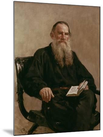 Lev Tolstoy (1828-1810) 1887-Ilya Efimovich Repin-Mounted Giclee Print