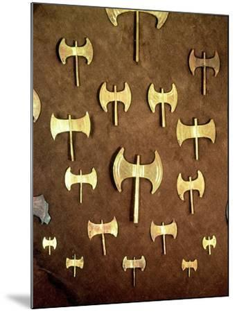 Miniature Double Axes, from the Cave of Arkalochori, circa 1500 BC--Mounted Giclee Print