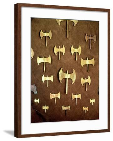 Miniature Double Axes, from the Cave of Arkalochori, circa 1500 BC--Framed Giclee Print