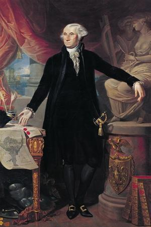 Portrait of George Washington (1732-99) 1796-Jose Perovani-Stretched Canvas Print