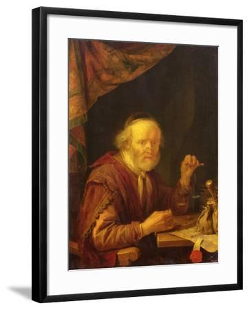 Weighing Gold-Gerrit Dou-Framed Giclee Print
